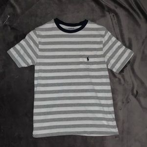 Polo T-Shirt Blue and White Stripes